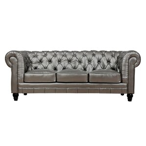 "Mason 83"" Leather Chesterfield Sofa"