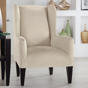 Tailor Fit Wingback Chair Slipcover  by Perfect Fit Industries