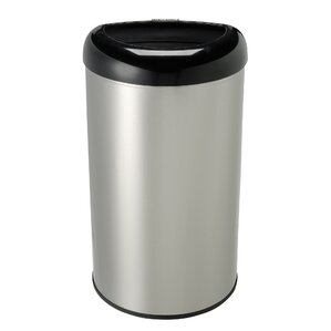 Stainless Steel 13.2-Gallon Wastebin