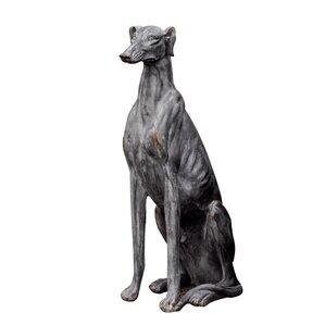 Chauncey Greyhound Garden Statue