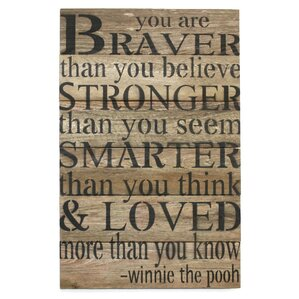 Braver Than You Believe Wall Decor