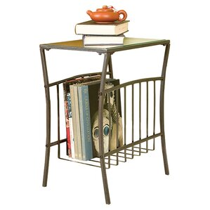 Noreen End Table with Magazine Storage