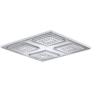 WaterTile Rain Overhead Showering Panel with 4 22-Nozzle Sprayheads