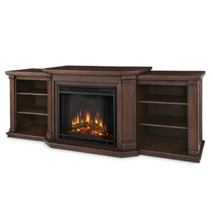"""Valmont 75.5"""" TV Stand with Electric Fireplace"""
