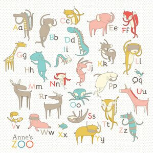 Zoo Alphabet Canvas Print