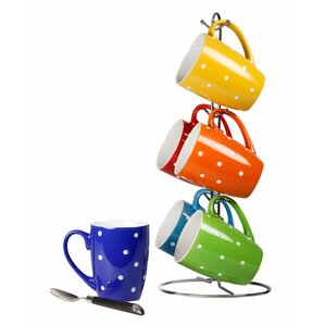 Dottie Mug & Stand Set