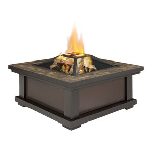 Alderwood Steel Wood Burning Fire Pit Table