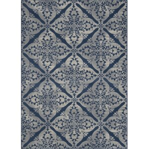 Jennifer Blue & Gray Hand-Tufted Area Rug