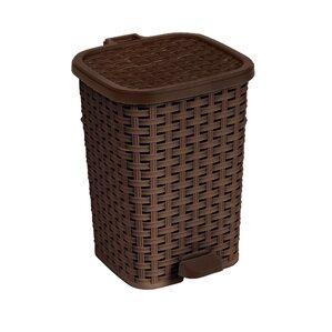 Jackson Rattan Trash Can