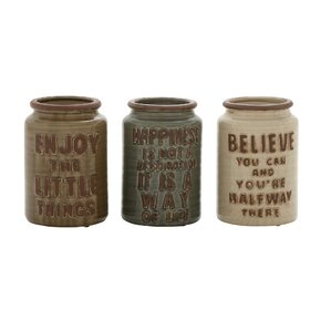 Jeremiah 3-Piece Decorative Jar Set
