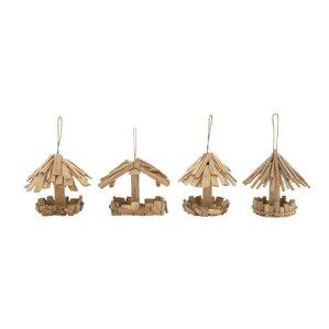 Ivan 4-Piece Decorative Bird Feeder Set