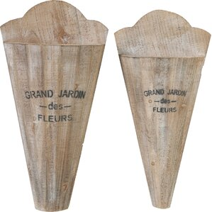 2-Piece Jardin Wall Vase Set