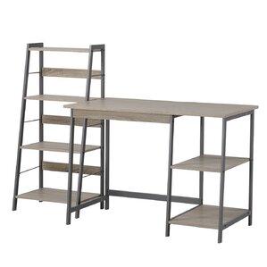 2-Piece Henley Writing Desk & Bookcase Set