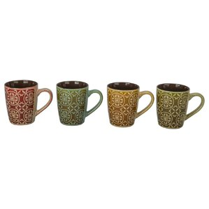 4 Piece Barcelona Mug Set (Set of 4)