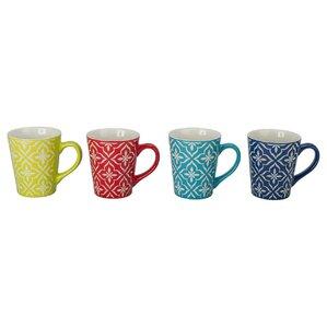 Lindsey Porcelain Mug (Set of 4)