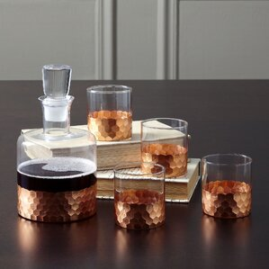5-Piece Daphne Decanter & Glass Set
