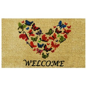 Butterfly Heart Doormat