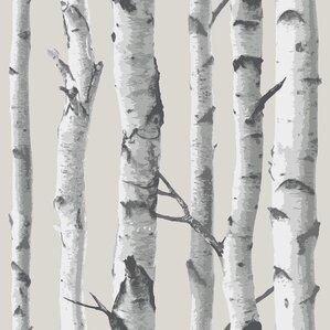 "Birch Tree 18' x 20.5"" Peel And Stick Wallpaper"