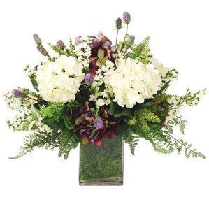 Faux Hydrangea, Delphinium, & Thistle Arrangement