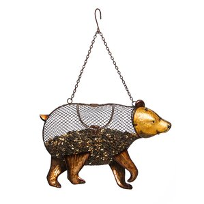 Strolling Bear Mesh Bird Feeder