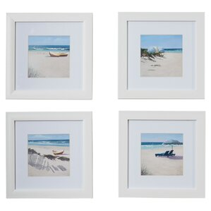 Umbrella Framed Giclee Print (Set of 4)
