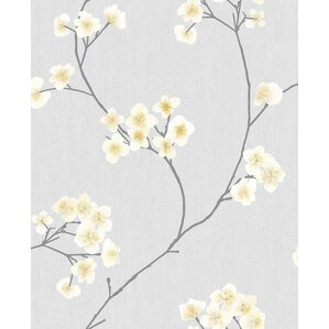 """Curley 33' x 20"""" Floral and Botanical Calico Wallpaper"""