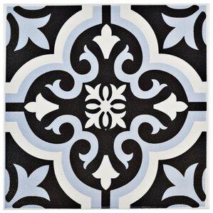 """Tamara 7.75"""" x 7.75"""" Ceramic Field Tile in Blue"""