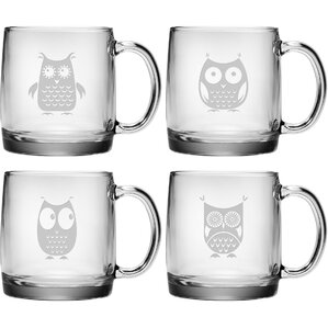 4-Piece Owl Mug Set