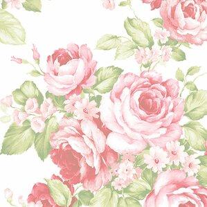 "Jared 32.7' x 20.5"" Grand Floral Wallpaper"