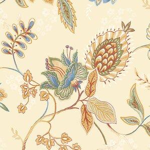 "Doreen 32.7' x 20.5"" Jacobean Floral Wallpaper"