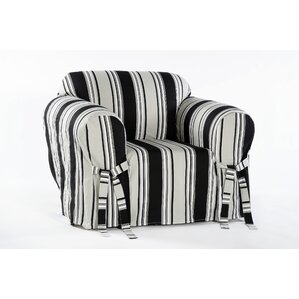 Stripe Duck Armchair Slipcover  by Classic Slipcovers