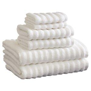 6-Piece Stripe Cotton Towel Set