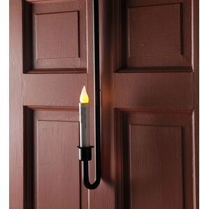 Morrison Indoor/Outdoor Over the Door Single Candle with Timer LED Bulb