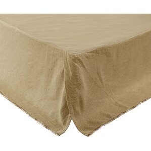 Michael Burlap Fringed Bed Skirt