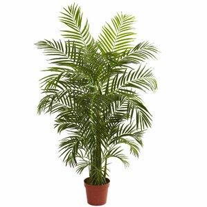 Faux Areca Palm Tree Floor Plant in Pot