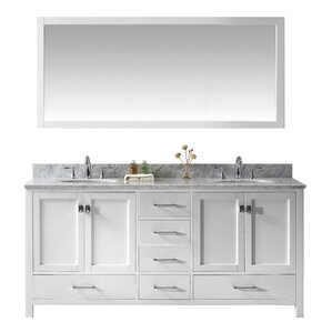 "Gwyneth 2-Piece 73"" Double Vanity & Mirror Set"