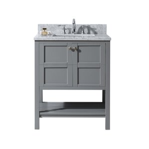 "Williams 30"" Single Bathroom Vanity Set with Mirror"