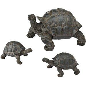 Tortoise Family Garden Statue