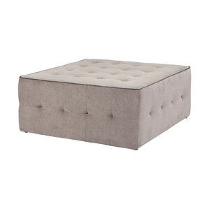 Madison Park Zeus Leather Oversized Cocktail Ottoman