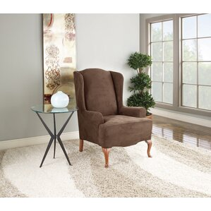 Stretch Suede Wing Chair Slipcover  by Sure Fit