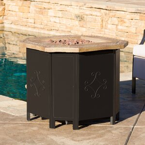 Brady Metal Propane Fire Pit Table