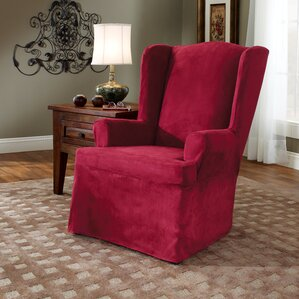 Soft Suede Wing Chair Slipcover  by Sure Fit
