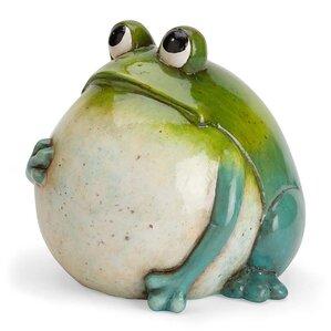 Arthur Ceramic Frog Statue