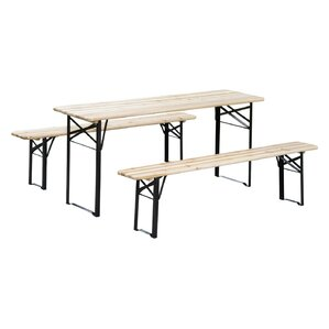 3-Piece Outdoor Folding Picnic Table Set