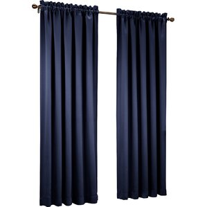 Grover Solid Semi-Sheer Rod Pocket Single Curtain Panel