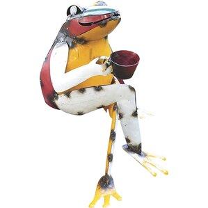 Frog Coffee Garden Statue