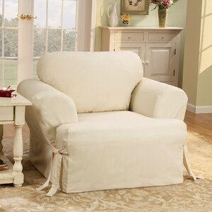 Cotton Duck Armchair T-Cushion Slipcover  by Sure Fit