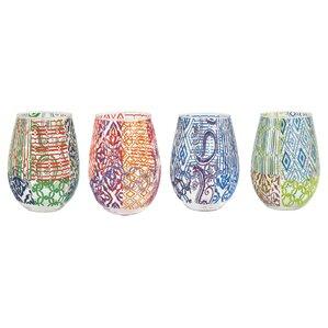 Gerard Stemless Wine Glass by Tracy Porter