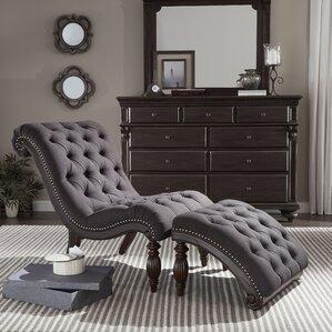 2-Piece Austen Tufted Chaise & Ottoman Set