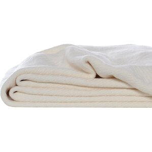 Eddie Bauer Herringbone Cotton Throw Blanket
